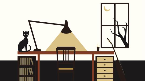Lampa vid skrivbord